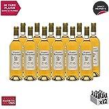 Jurançon Moelleux Le Plaisir Partagé Gros Manseng Blanc 2017 - Domaine Bordenave - Vin Doux AOC Blanc du Sud-Ouest - Cépage Gros Manseng - Lot de 12x75cl - 1* Guide Hachette