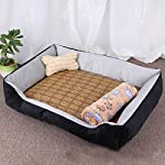 ZHENGDY Pet Basket Beds,Soft Waterproof Washable Luxury Warm Fleece Dog Cuddler Bed Cushion With Non Slip Base