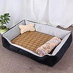 ZHENGDY Pet Basket Beds,Soft Waterproof Washable Luxury Warm Fleece Dog Cuddler Bed Cushion With Non Slip Base