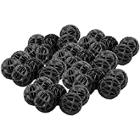 Anself 100pcs 18 millimetri biologica Bio Balls pesci dell'acquario Nano carro armato Wet / Dry cartuccia del filtro di media nero
