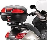 KAPPA TOP-CASE K46 L schwarz m. rotem Reflektor