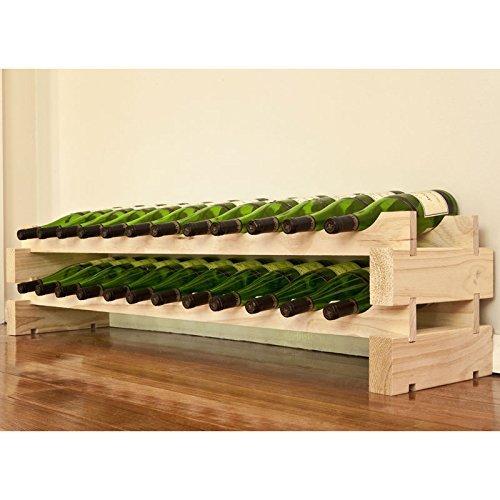 Modularack bois casier à vin 24 bouteilles - pin naturel