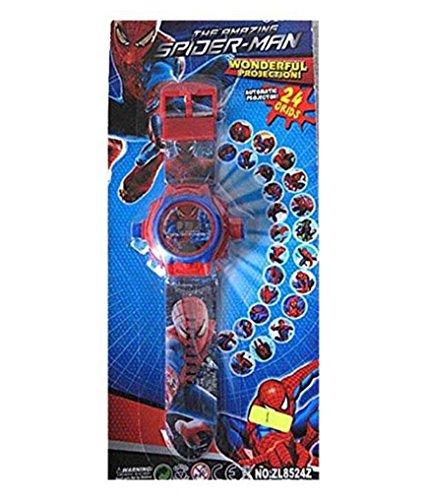 Spider-man cartoon images Projector Watch Kids Digital Wrist Watch cartoon character watch