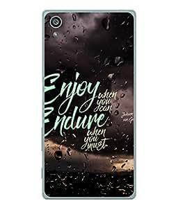 PrintVisa Designer Back Case Cover for Sony Xperia Z3+ :: Sony Xperia Z3 Plus :: Sony Xperia Z3+ dual :: Sony Xperia Z3 Plus E6533 E6553 :: Sony Xperia Z4 (Quote Inspiring Message)