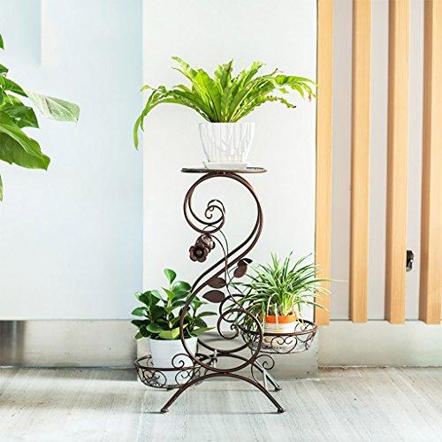 Lwjjhj stand di piante verdi piedistallo in metallo per vasi, a 3 ripiani,s-flach (3 colori) (colore : b)
