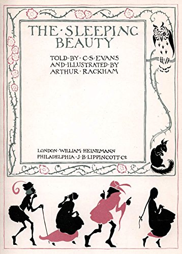 World of Art Kunstdruck/Poster, Motiv Titelbild von Arthur Rackham 1920, Illustration zuThe Sleeping Beauty (Dornröschen) von Charles S. Evans, englischsprachige Aufschrift, 250g/m², glänzend, A3