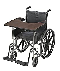 Mabis Dmi Healthcare Wheelchair Trays, Wood, One