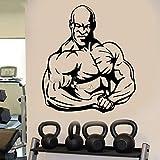 LUANQI Wohnkultur Vinyl Wandtattoo Schlafzimmer Muskelmann Bodybuilding Gym Gewicht Kraftheber 3...