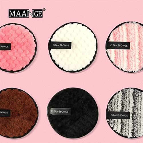 Dkings 6 wiederverwendbare Abschminkpads aus Bambus und Baumwolle   Waschbar Make-Up Remover, Less Waste   Extrem Weich, perfekt für Gesichtsreinigung und Baby -
