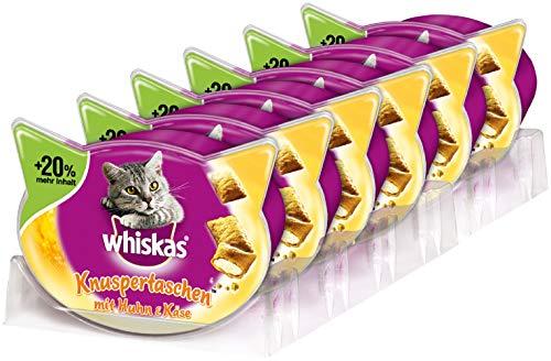Whiskas Knuspertaschen, Köstlicher & kalorienarmer Katzensnack in verschiedenen Geschmacksrichtungen, Die kleine Belohnung für zwischendurch
