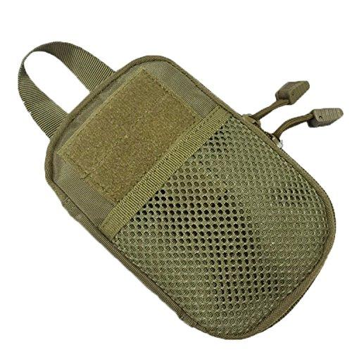 ruifu Outdoor Tactical Waist Pack Tasche MOLLE EDC Camping Wandern Tasche Geldbörse Handy Fall Braun