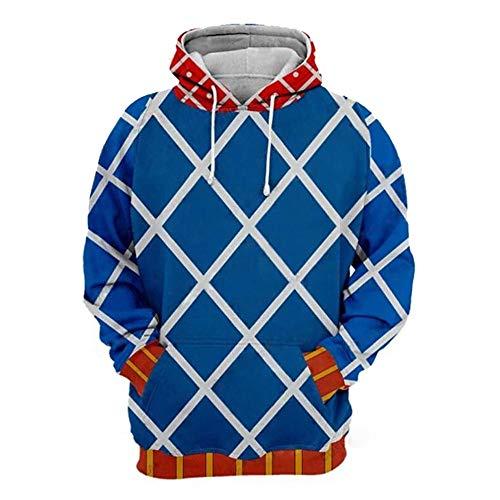 Anime Cartoon JoJo´s Hoodie Cosplay Kostüm 3D gedruckt Hooded Sweatshirt Zipper Jacket (XL, Color 11) (Jotaro Kujo Cosplay Kostüm)