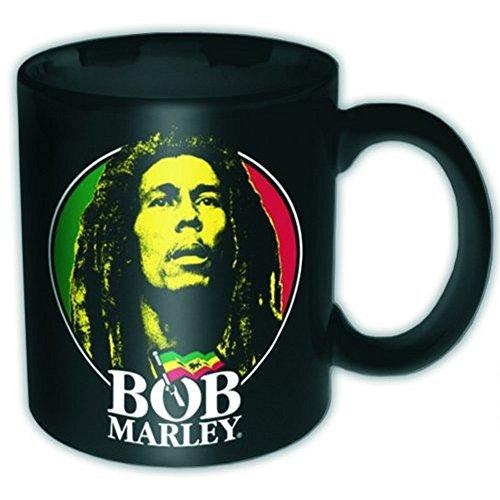 Bob Marley - Keramik Becher Tasse - Logo Face - verpackt in einer Geschenkbox!