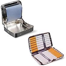Máquina para liar cigarrillos de metal de 78mm + Pitillera 14 cigarrillos