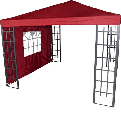 Pavillon Seitenteil Royal bordeaux mit Fenster 3x1,9 Meter