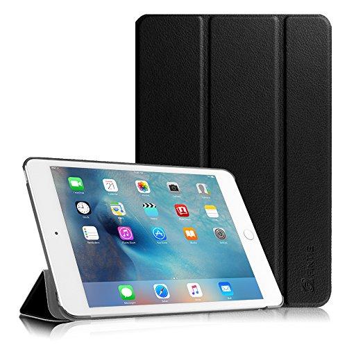 iPad Mini 4 Hülle - Fintie Ultradünn Superleicht Cover Schutzhülle Tasche Case mit Ständer und Auto Sleep/Wake Funktion für Apple iPad Mini 4, Schwarz