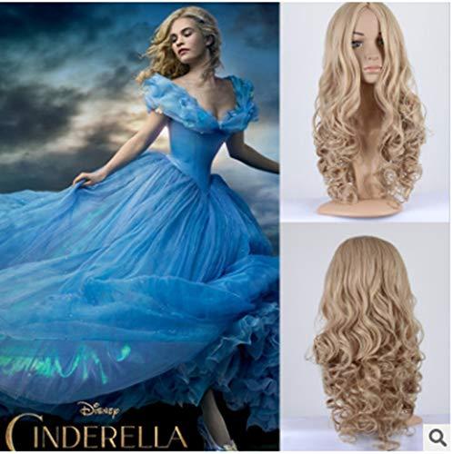 wp001 Perücke Cinderella Sindersin Dory Perücke mit lockigen Haaren bei Hellen Gold cos Perücke 1 Packung
