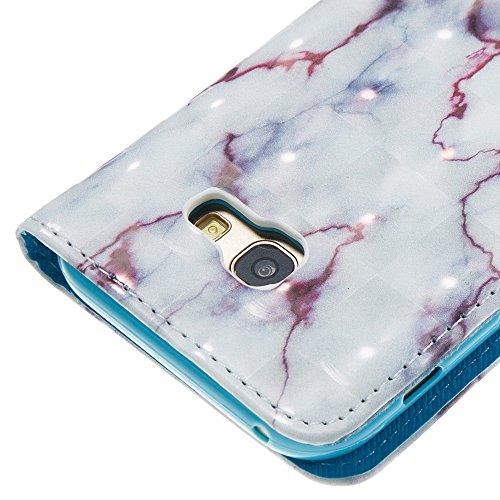 Marmor Stein Korn Texure Muster PU Ledertasche Cover, Retro Bookstyle Flip Stand Case mit Magnetverschluss & Card Slots & Lanyard für Samsung Galaxy A520 A5 2017 ( Color : E ) B