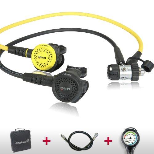 Mares Atemregler Komfort Sparset Rover 2S mit Oktopus, Atemreglertasche, Inflatorschlauch und Finimeter