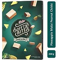 Charliee Soft Malai Chikki - Pineapple Peanut Malai Chikki - Light and Healthy Indian Sweet - Gift Pack – 200 g - Pack of 4