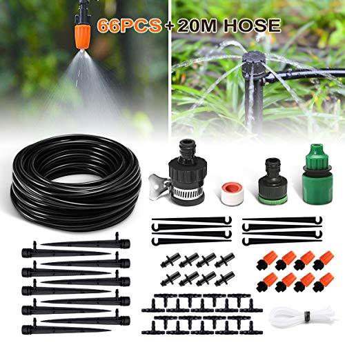 NASUM automatisch Bewässerungssystem DIY Micro Drip Garten Bewässerung Gartenbewässerung verstellbar Pflanzen Wasser Gartenschlauch automatisch Kits