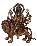 stealstreet 22,2cm Messing Sitzen Durga auf einem Löwen Statue
