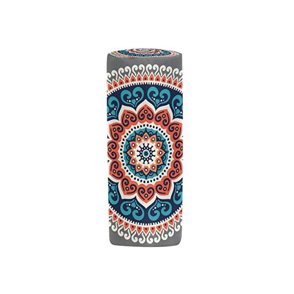TIZORAX – Estuche étnico de Hippie Henna Mandala, bolígrafo, bolsa con cremallera, organizador de monedas, maquillaje…