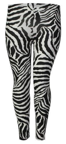 Fast Fashion Damen Übergröße Zebra Print Dehnbar Leggings (EUR 44/46 - UK...