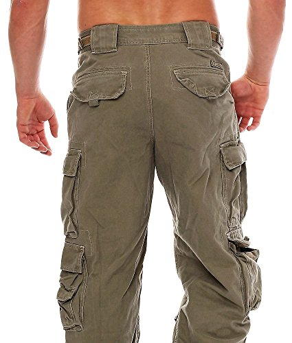 Jet Lag Herren Cargohose 007 cement Loose Fit Cement