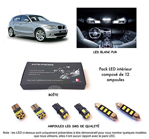 Pack FULL LED intérieur pour Série 1 E81, E82, E87, E88 (Kit ampoules blanc pur)