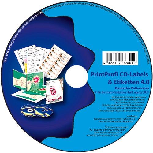 Print Profi 4.0 Druck-Software für CD-/DVD-Labels, Einleger & Etiketten (Cd-label-software)