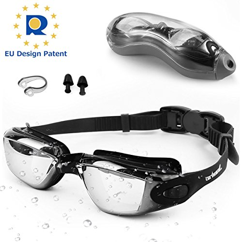 4121d22b420 Zerhunt Swimming Goggles Adult Mens Womens - Mirror Swim Goggles Anti Fog  with UV Protection No