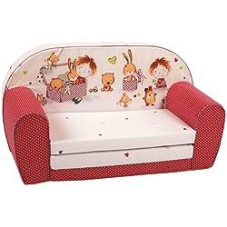 knorr-baby 430166 Kindersofa zum Ausklappen Spielzimmer, rot