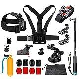 D&F Kit d'accessoires pour caméra de Sport en Plein air pour GoPro Hero 6/5/4 / Hero (2018) SJCAM YI APEMAN AKASO Campark et Autre caméra d'action