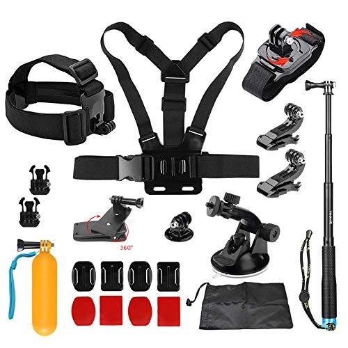 D&F Outdoor-Sport-Kamera-Zubehör-Kit für GoPro Hero 6/5/4 / Hero (2018) SJCAM YI APEMAN AKASO Campark und Andere Action-Kamera Outdoor-kamera-kit