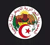 Akachafactory Autocollant Blason adhesif Drapeau Armoiries Voiture Sticker Algerie