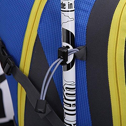Outdoor Wandern Klettern Rucksack Radfahren Rucksack Wasserdichte Bergsteigen Tasche 42L Unisex Hochleistungs-Reisetasche blue