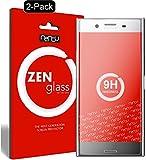 nandu I ZenGlass [2 Stück] Flexible Glas-Folie für Sony Xperia XZ Premium Panzerfolie I Bildschirm-Schutzfolie 9H I (Kleiner Als Das Gewölbte Bildschirm)
