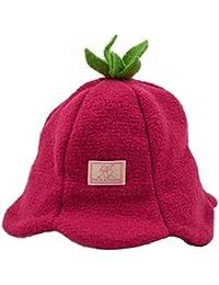 PICKAPOOH Mädchen Mütze Blümchen aus Wollwalk kbT