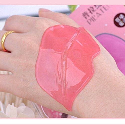 Akruti 2Pcs Crystal Collagen Lip Mask lip Care Gel pads Lip Plumper Enhancer Membrane Moisture anti aging anti wrinkle beauty makeup
