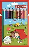 Dreikant-Buntstift - STABILO Trio - 18er Pack - mit 18 verschiedenen Farben
