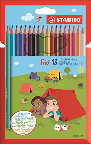Stabilo trio matite colorate ergonomiche - astuccio da 18