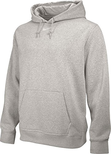 Nike team Club Fleece Hoody – Sweat-shirt pour homme Gris foncé chiné/blanc (Dk Grey Heather/Tm blanc)