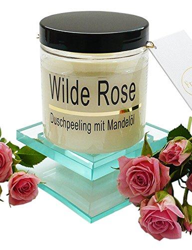 Körperpeeling Salz Wilde Rose Body Scrub mit Mandelöl, 320 g