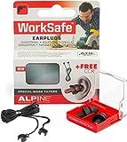 Alpine WorkSafe 2015 Protection d\'Oreilles pour Travail + Gratuit Cord