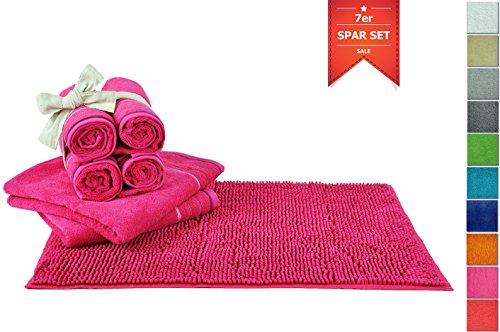 7er-spar-set-badtextilien-rutschfestes-waschbares-badezimmerset-mit-hochwertiger-badematte-duschvorl