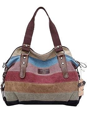 Koolertron Damen Fashion Vintage Canvas Schultertasche Damen Handtasche Messenger Taschen Tolle Umhängetaschen...