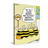 Premium Textil-Leinwand 50 cm x 75 cm hoch, Bienen | Wandbild, Bild auf Keilrahmen, Fertigbild auf echter Leinwand, Leinwanddruck: Na Toll! (CALVENDO Spass)