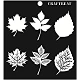 "CrafTreat Layered Stencil - Leaves 6""X6"""