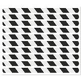 Anti-Rutsch-Streifen für Treppenstufen / 65 x 3 cm / 10 Stück/schwarz reflektierend/selbstklebend